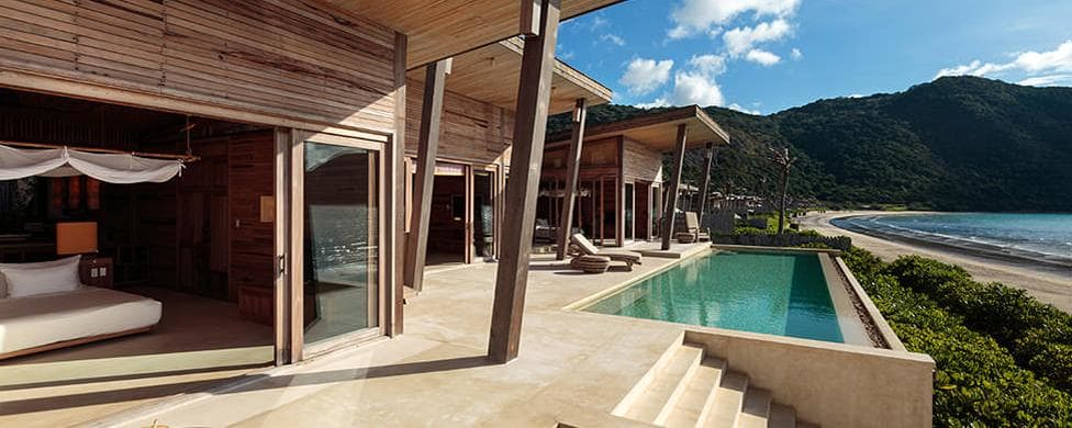 Six Senses Can Dao villa terrace