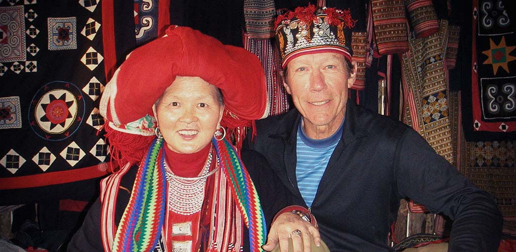 meeting hilltribe woman in Sapa, Vietnam