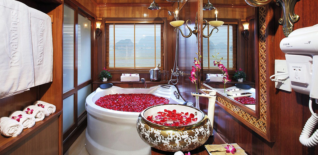 Luxury bathroom on Halong Bay