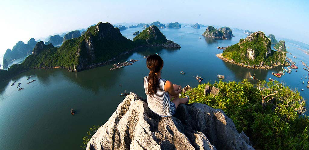 Hiking in Halong Bay, Vietnam