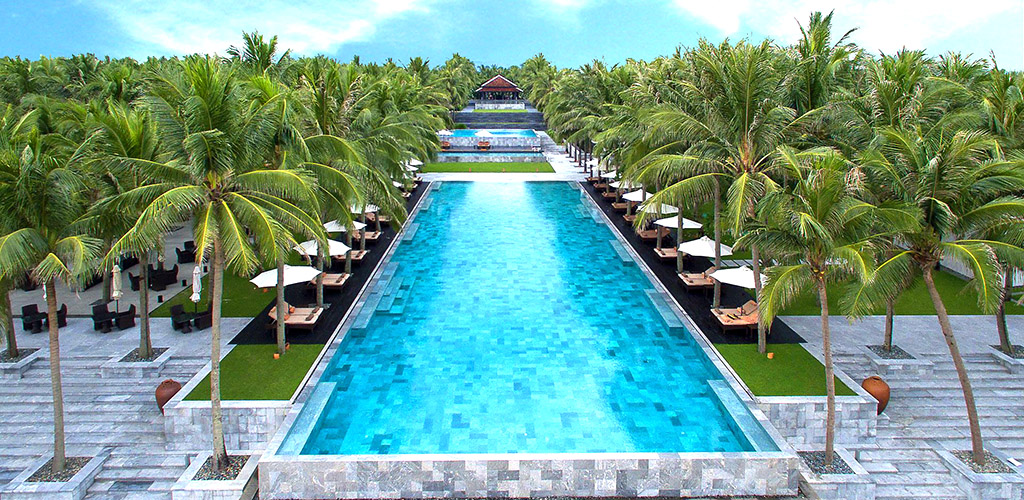 Pool at Four Season's Nam Hai luxury resort in Hoi An, Vietnam