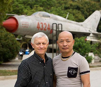 Fighter pilot Hong My with General Cherry