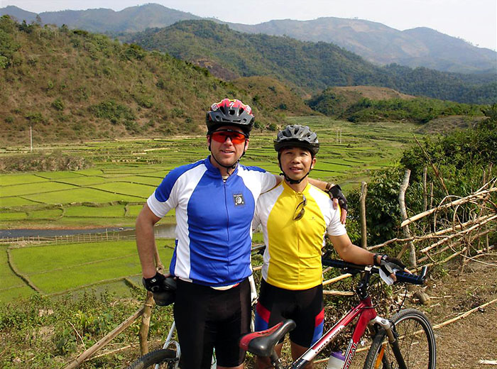Vietnam bicycle tour near Dien Bien Phu