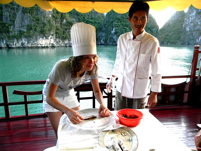 Cooking class on Halong Bay, Vietnam