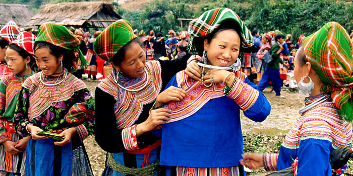 Encounter with hill tribe women in Sapa, Vietnam
