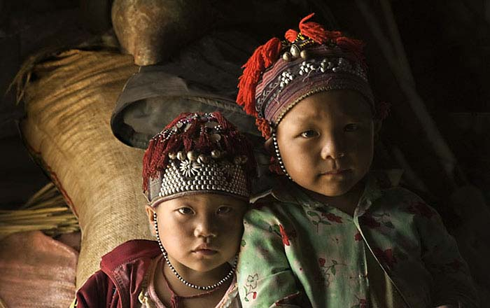 Hilltribe children in North Vietnam