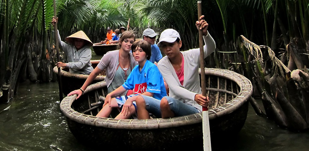 Family Boating in Hoi An, Vietnam