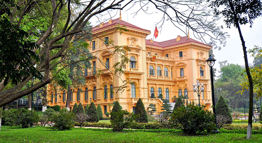 Indochina French Administration Building Hanoi