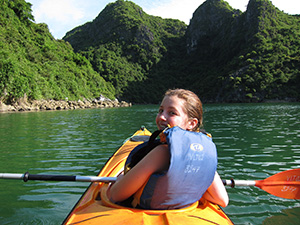 Family trip in Halong Bay