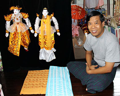 Puppet show in Yangon