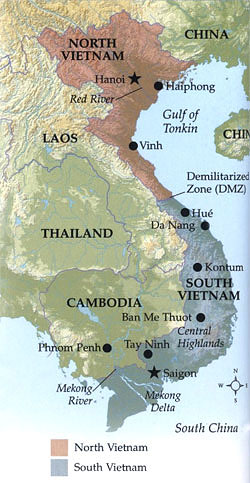 Vietnam North and South