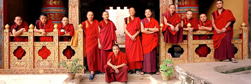 Bhutan monks