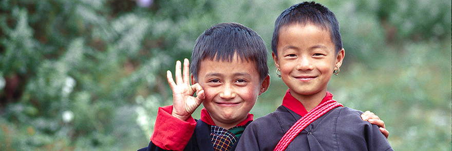 Children in Bumthang, Bhutan