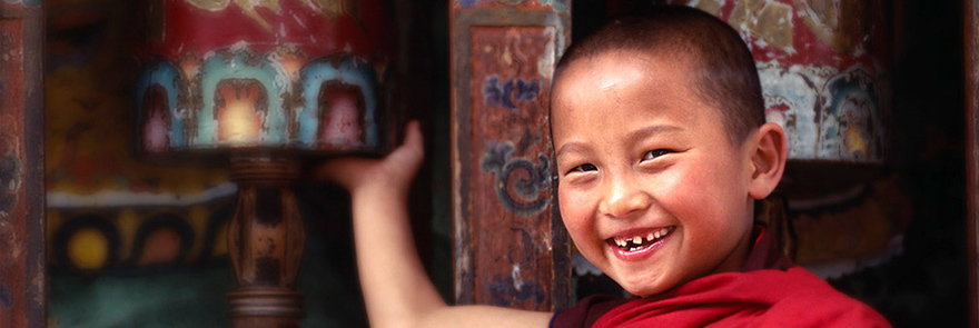 Young novice monk, Bhutan