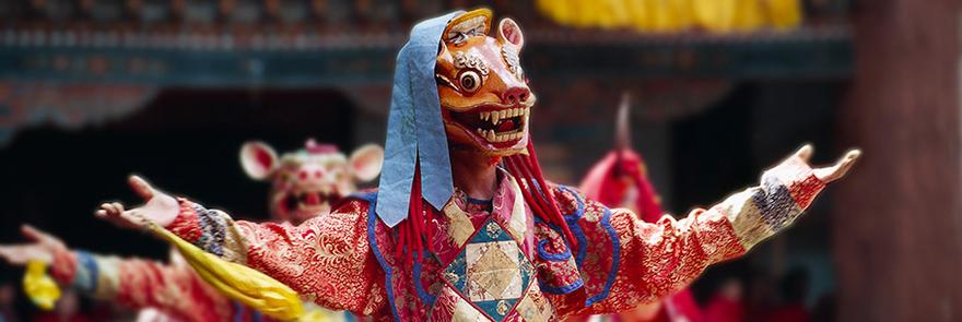 Wangdue tshechu dancer