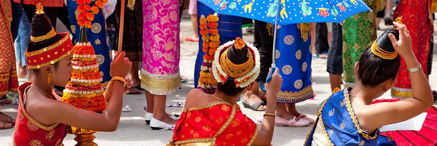 Laos traditional dancers