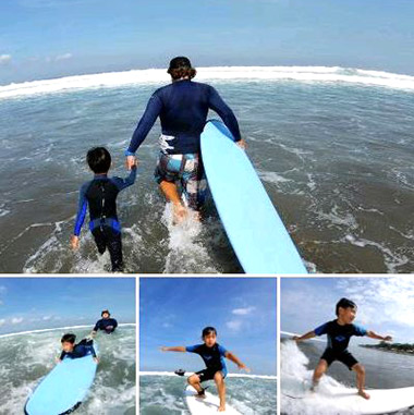 surfing lessons in Bali